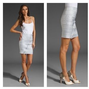 Pleasure Doing Business Silver Skirt Size XS